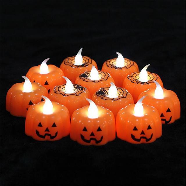 Candle Lamp Pumpkin Halloween Decoration