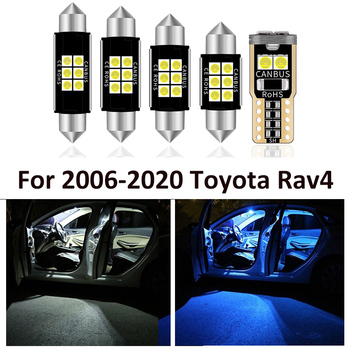 14X Canbus White LED Car Interior Lghts Package Kit For Toyota Rav4 RAV-4 2006-2017 2018 2019 2020 led Car Map Dome Spare light image
