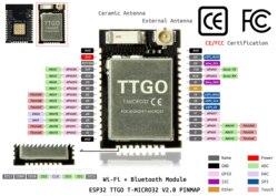 Ttgo Micro-32 v2.0 wifi sem fio bluetooth módulo esp32 PICO-D4 ipex ESP-32