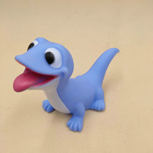 Disney New Cute Blue Salamanders Vinyl Doll Toys Cute Soft Lizard  Action Anime Figure Christmas Gifts for Kids