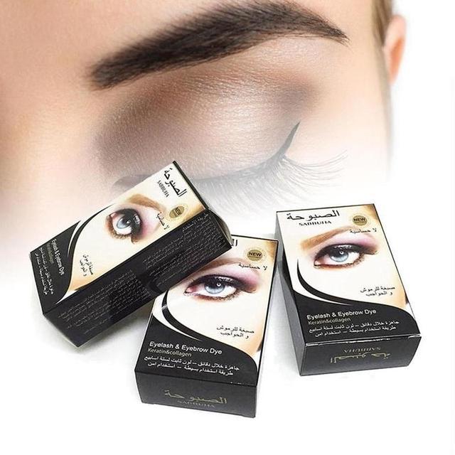 1 Set High Quality Waterproof Professional Eyelash Eyebrow Dye Tint Gel Eye Brow Mascara Cream 4