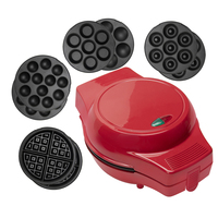 4 in 1 Multi Treat Donuts Cupcakes Waffle Baker Interchangeable Plates Electric Cake Maker