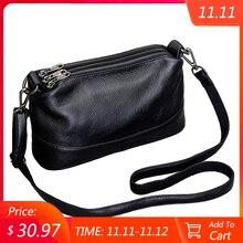 جلد طبيعي حقيبة كتف المرأة حقائب كروسبودي للنساء حقيبة يد فاخرة موضة الإناث محفظة حقائب اليد حقيبة ساعي