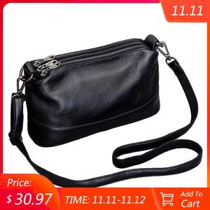 Image 1 - Genuine Leather Shoulder Bag Womens Crossbody Bags for Women Luxury Handbags Fashion Female Purse Totes Messenger Bag