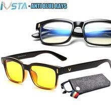 Очки компьютерные ivsta с защитой от сисветильник мужская оправа