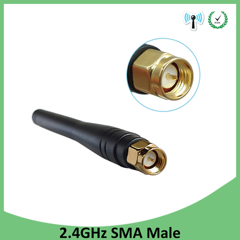 1pcs 2.4GHz WIFI Antenna 2dBi-3dbi Aerial SMA Male Connector Wi Fi Antena 2.4 Ghz Antenne Wi-fi For Wireless Router Antenas