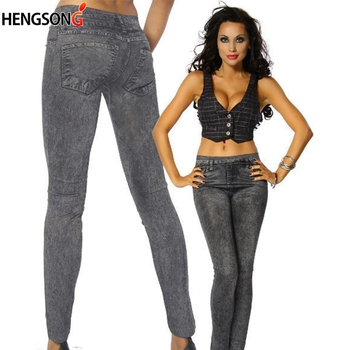 Fashion Women Casual Slim Legging Stretch Denim Leggings Jeggings Spring Autumn Denim Leggings Mujer 1