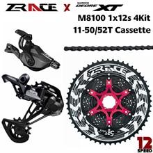 Deore XT M8100, SL M8100 R + RD M8100 SGS + ZRACE ALPHA Cassette + ZRACE Chains   1x12 speed,  4kit Groupset