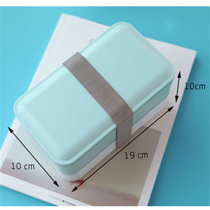 Double Layer Lunch Tiffin Storage Box Kawaii Plastic Bento Boxes Portable For Kids Picnic Office School Food Containers BPA Free