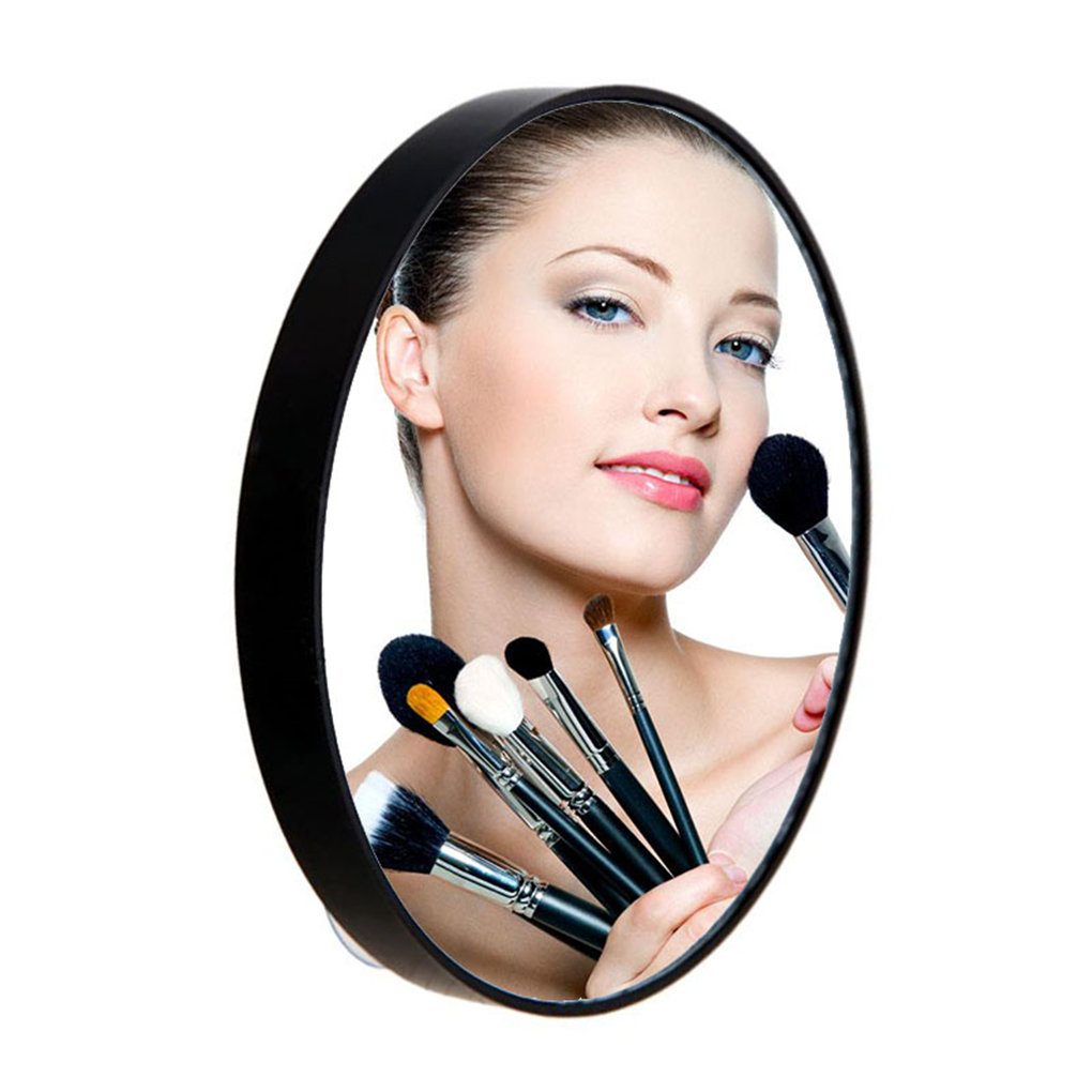 Portable Round Makeup Mirror with ABS Plastic Shell Pocket Magnifying Cosmetic Mirror