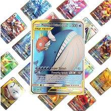 Детские игрушки, 100 шт., английские GX, EX Pokemones, карточные игрушки, карточная игра, битва, карт, торговая энергия, карточная карта