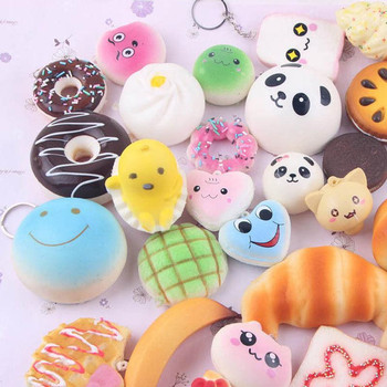 Lot 10/20/30 PCS Squishy Slow Rise Mini Soft Random Squishy Squishies Toy Cake Bread Squeezing Pressure Relief Toy