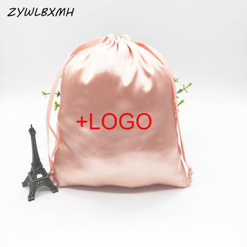 ZYWLBXMH Solid Color Silk Drawstring Bag Daily Necessities Storage Bag Women's Travel Packing Bag Large Capacity Drawstring Bags