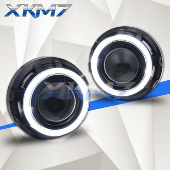 Lenses In Headlights Bi-xenon Lens 3.0 Angel Eyes Black Kit Super HID Projector H1 Light Bulbs For H4 H7 Car Accessories Tuning