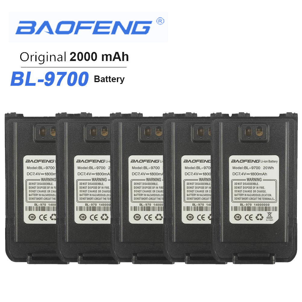 5PCS New Baofeng Waterproof BF-9700 Battery  For UV-9R Plus BF-A58 UV-8Plus BF-R6 UV960 S56MAX 9RSR Radio Walkie Talkie Batterie