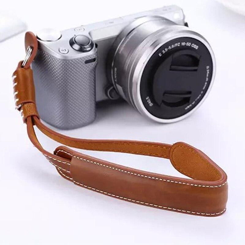 Camera Wrist Hand Strap Vintage PU Leather Soft Durable For DSLR / SLR Camera SP99