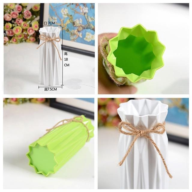 Anti-ceramic Vase Home Decoration European-style Rural Style Plastic Vase Flower Basket Anti-fall Creative Wedding Decoration 5