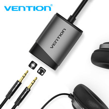 Vention Kartu Suara USB Jack 3.5 Mm Adaptor Audio Interface USB External Sound Card untuk PC PS4 Headset Headphone USB Sound Card(China)