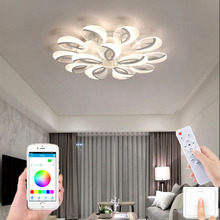 Nordic ceiling lamp modern living room lamp bedroom aisle LED ceiling lamp supports remote control APP hotel villa  chandelier