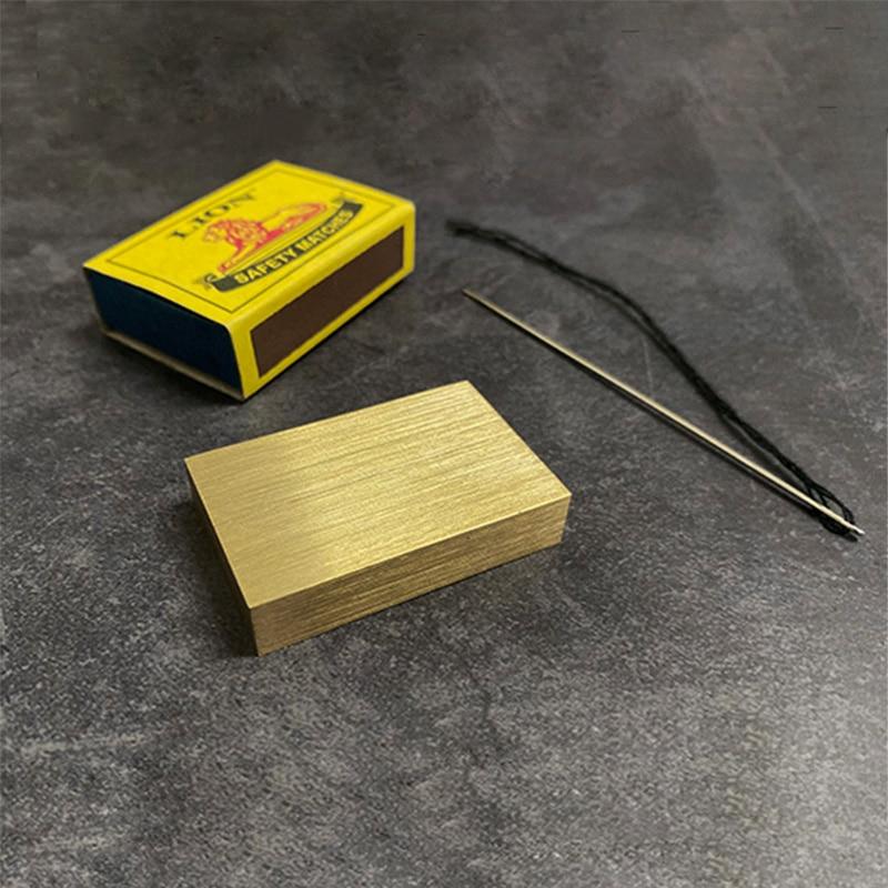 Matchbox Penetration Magic Tricks Needle Through Brass Block Magia Magician Close Up Illusions Gimmick Props Funny Mentalism
