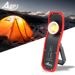 Image 1 - 60w Portable Flashlight Torch USB Rechargeable LED Work Light Magnetic COB Lanterna Hanging Hook Lamp For Outdoor Camping