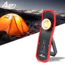 60w taşınabilir el feneri Torch USB şarj edilebilir LED lamba çalışma ışığı manyetik COB Lanterna asılı kanca lambası açık kamp için