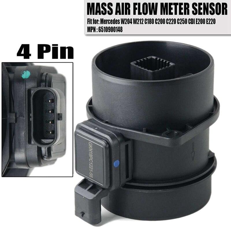 המוני זרימת אוויר Maf חיישן עבור מרצדס בנץ W204 W212 X204 אצן ויאנה ויטו W639 5WK97917 651 090 01 48