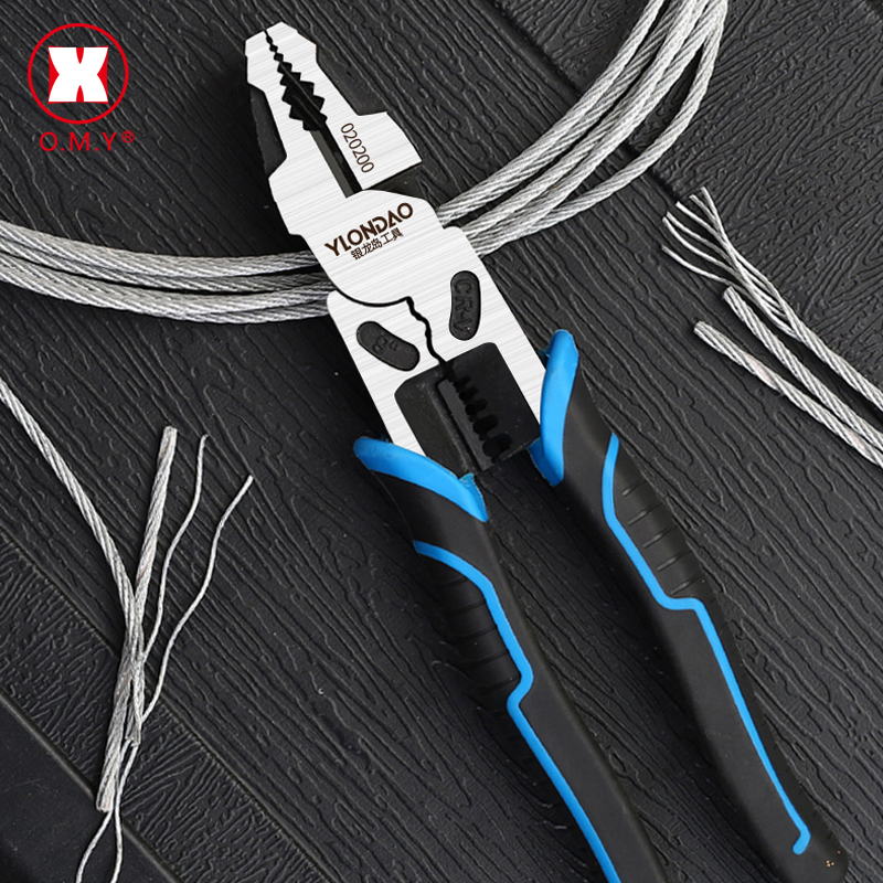 Multi-function Wire Cutter Pliers Industrial Grade Electric Wire Stripping Crimping Vise Strong Manual Home Repair Tools