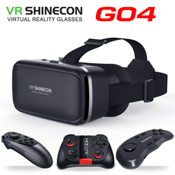 Original VR shinecon SC-G04 Standard edition and 3D VR game virtual reality 3D VR glasses helmets Optional controller