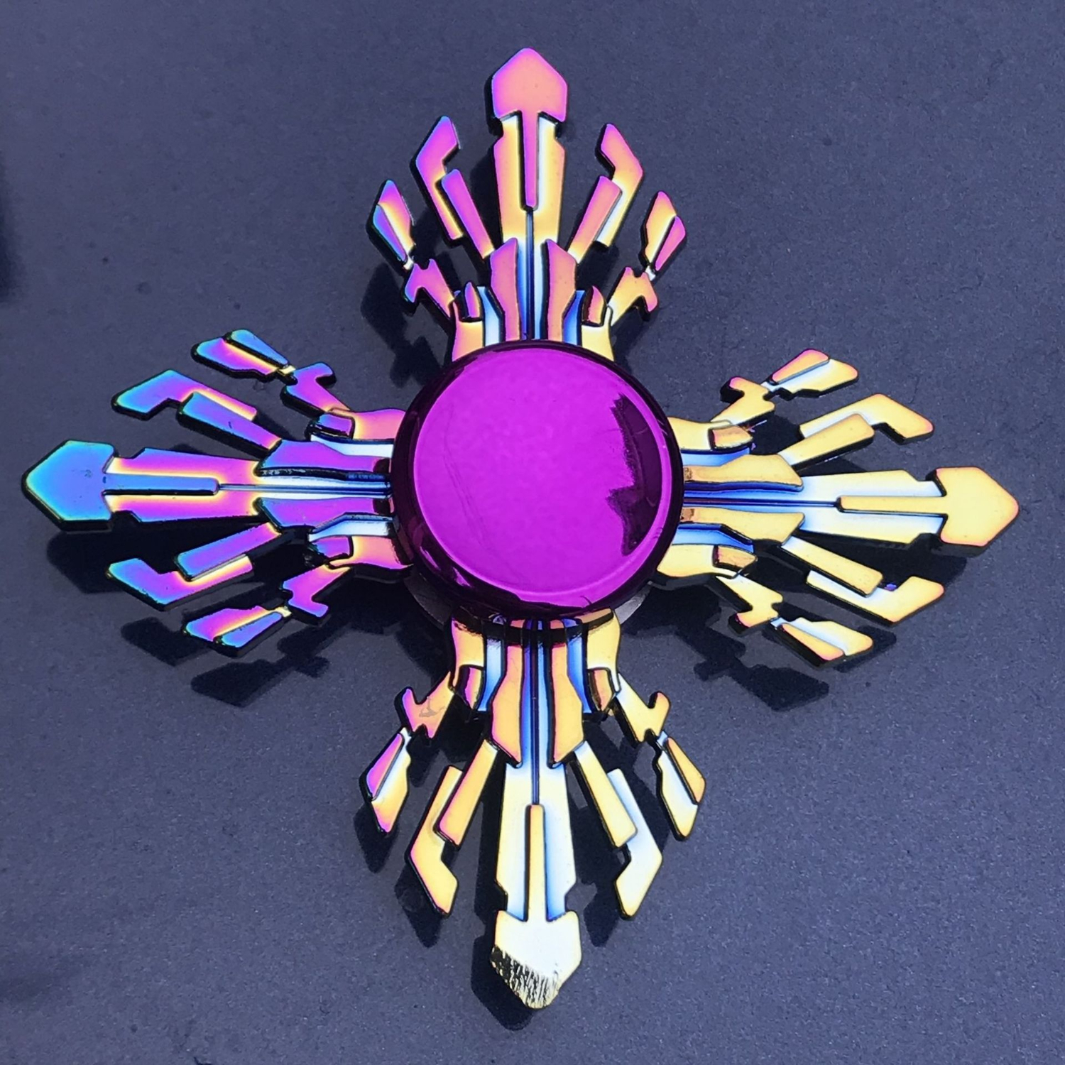 Colorful Plating Fidget Spinner Metal Hand Finger Spinners Wheel Flame Shape Adult Kids Anxiety Stress Relief Relax Spiner Toys