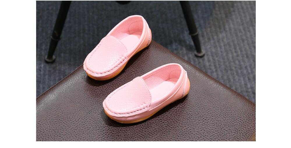 H6b8145ffde5d4ea5985dac729130fc06E - 12 Colors All Sizes 21-36 Children Shoes PU Leather Casual Styles Boys Girls Shoes Soft Comfortable Loafers Slip On Kids Shoes