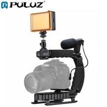 Puluz para steadycam u grip em forma de c handgrip câmera estabilizador com tripé cabeça adaptador de braçadeira de telefone para steadicam dslr estabilizador
