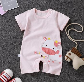 Striped Casual Clothes Themed Short Sleeve Summer Baby Romper 5