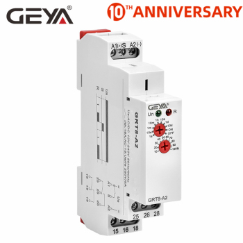 цена на Free Shipping GEYA GRT8-A Electronic 16A SPDT ON Delay Timer Relay Time Relay 12V 24V 220V DIN Rail Type AC230V OR AC/DC12-240V