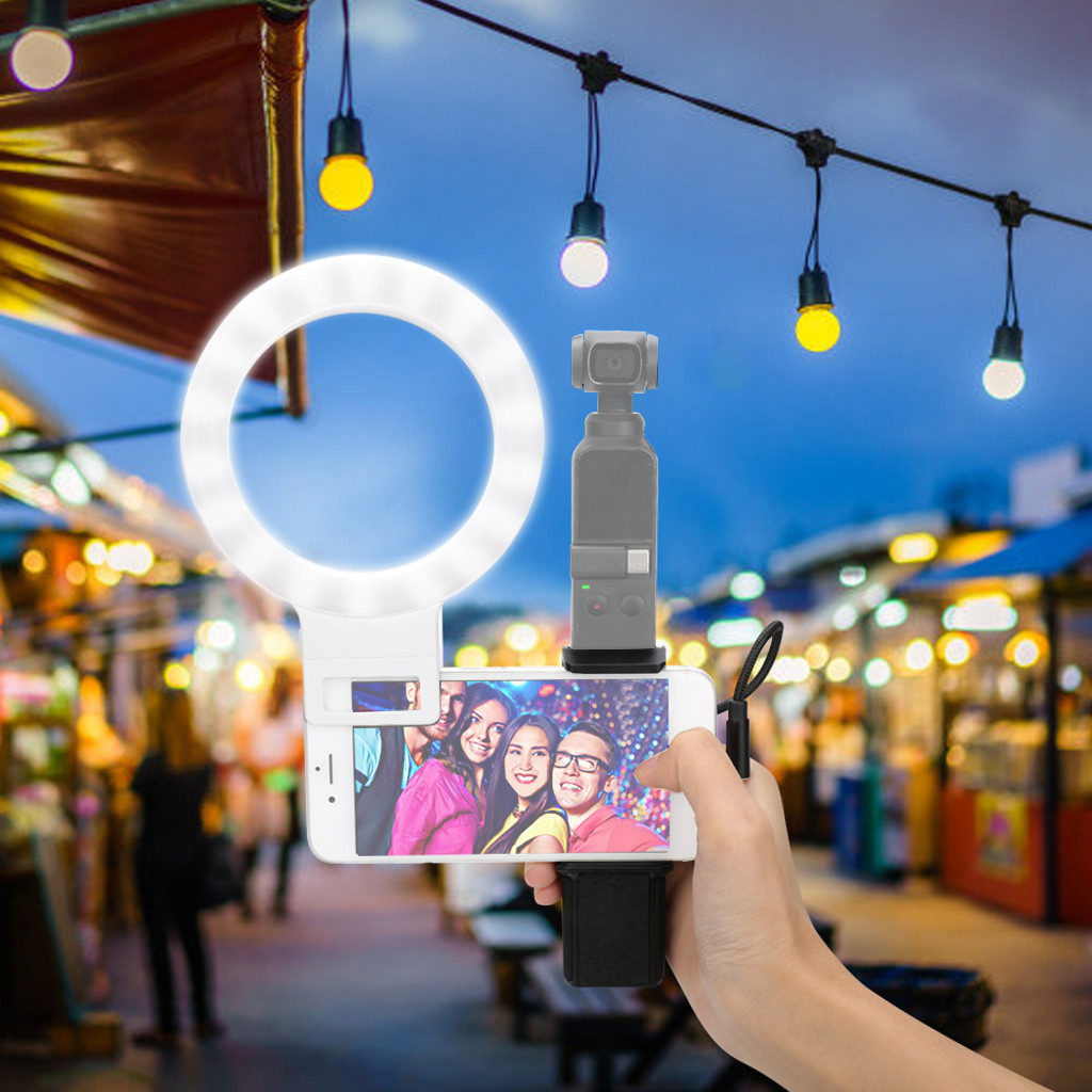 Ring Light With Stand USB 3 Modes LED Ring Video Photography For DJI OSMO pocket
