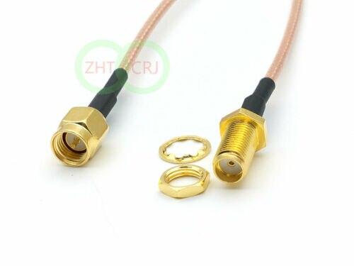 300PCS cable 60cm SMA female nut bulkhead to SMA male RG316 connector