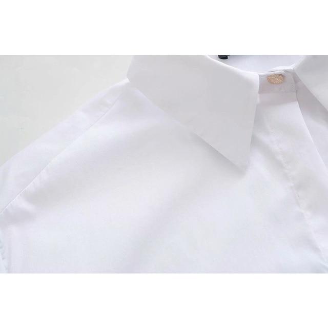 2020 New Fashion Pure white Women Blouses Long Sleeve Turn-down Collar Chiffon Blouse Shirt Casual Tops Slim Elegant Work Shirt 6