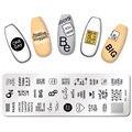 Штамповочные пластины PICT YOU для ногтей шаблон для штамповки шаблон из нержавеющей стали DIY трафареты инструменты для рукоделия