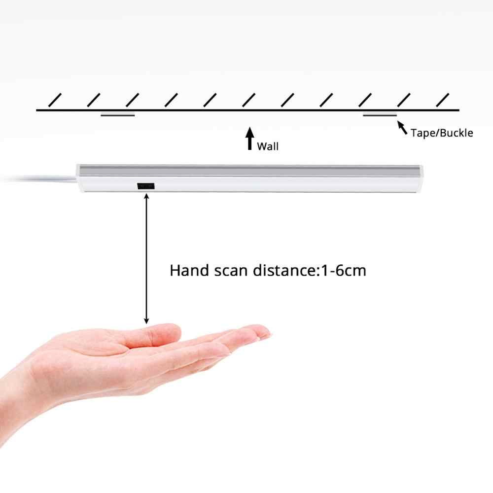12V LED Rigid Bar Tangan Cahaya Sensor Saklar Gelombang Dapur Light 5W 6W 7W Lampu LED lampu DIY Kabinet Lemari Pakaian Aluminium Ringan Tabung
