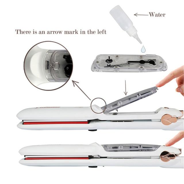 Professional Steam Hair Straightener Infrared Heating  4
