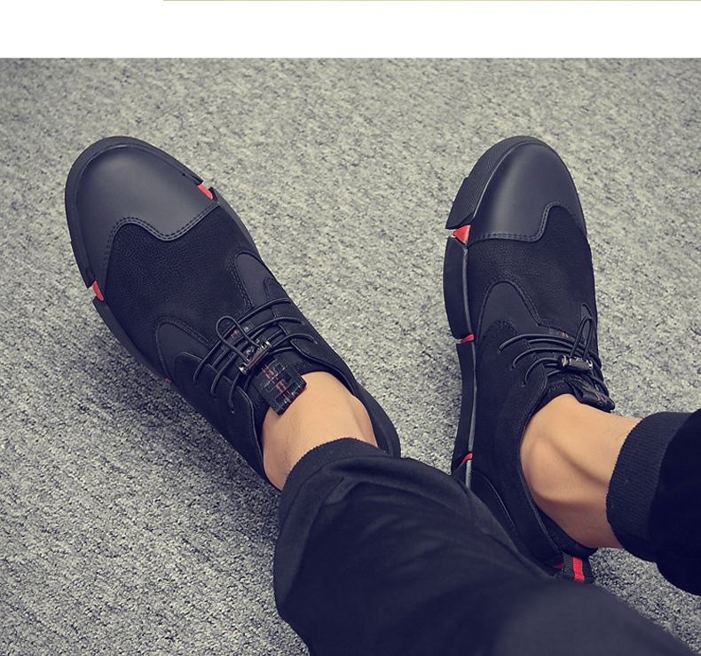 H6b8214fdc7834404bf208204b6f3440ft Shoes Men Black Autumn Winter Plush Keep Warm Men Casual Shoes Leather Breathable Fashion Men Shoes High Quality
