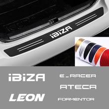 Autocollant 3D de Protection pour pare-chocs arrière de voiture, en Fiber de carbone, pour Seat Ibiza Leon Cupra e-racer Ateca Formentor FR Racin, accessoires