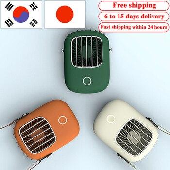 цены Ventilador Mini Fan USB Charging Travel Hanging Neck Fan Mini Summer Handheld Air Cooler Portable Desktop Small Fan Ventilateur