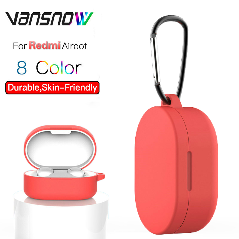 """For Xiaomi Redmi Airdots Case /Global Version Redmi Airdots """"Mi True Wireless Earbuds Basic Silicone Protect Case with Hook Earphone Accessories     - title="""