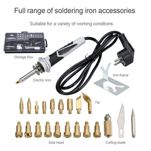 20pcs New Electric Soldering Iron Set Air Gun Hot Air Blower Adjustable Temperature 30W Electric Welding Soldering Tools
