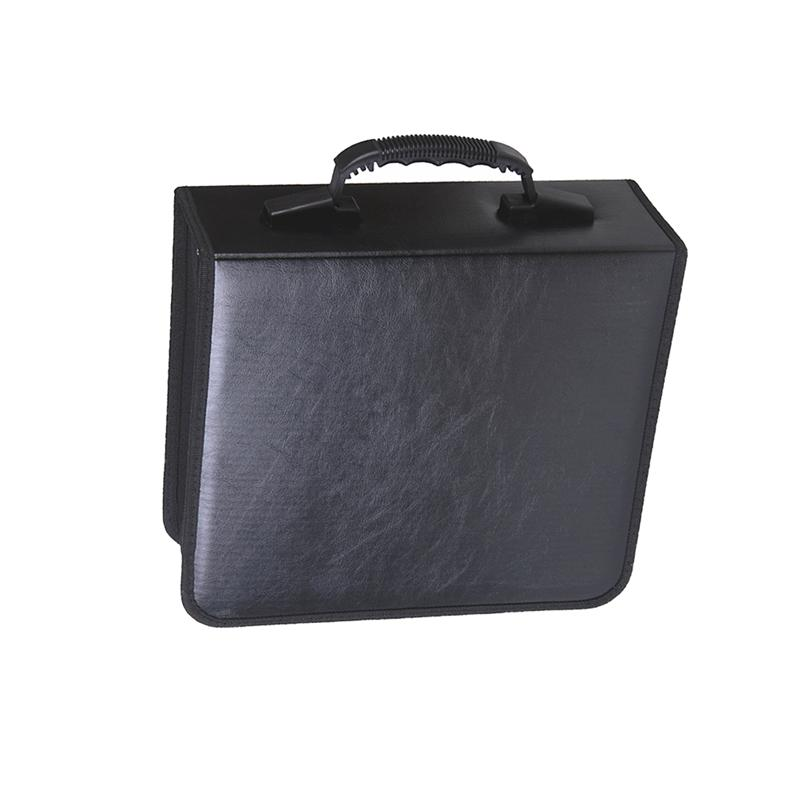 Special Section 240 Slots Large Capacity Dvd Organizer Bag Car Dvd Storage Pouch Practical Pu Leather Cd Supplies (black) Removing Obstruction