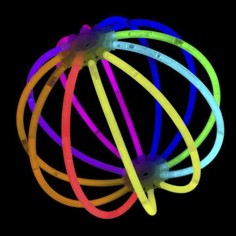 Забавный светящийся Флуоресцентный светильник, палочки, браслеты, ожерелья, неоновые для детей, Светящиеся светодиодный игрушки, новинка, ночной Светильник вечерние принадлежности