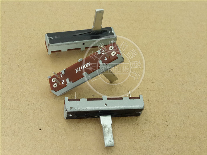 35MM Mixer Straight Sliding Single Potentiometer B100K With Midpoint Iron Handle 15MM SC2043N 4 Feet