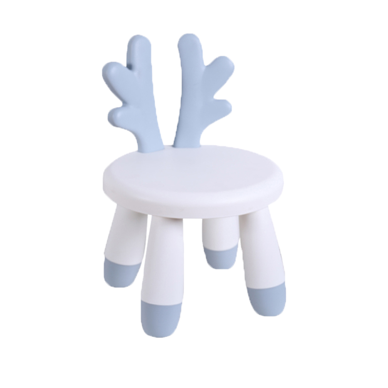 Children's Chair Baby Cute Cartoon Stool Household Nordic Stool Low Stool Baby Backrest Chair Plastic