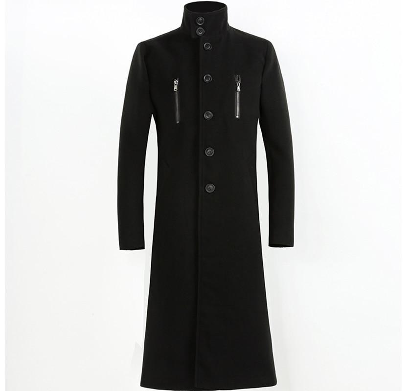 2020 autumn and winter new men's woolen coat 4XL large size slim long trench coat fashion slim wild men's jacket